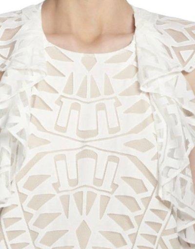 画像1: 【MARIAさん着用、アネキャン掲載】BCBGMAXAZRIA   Printed Ruffle-Detail Dress