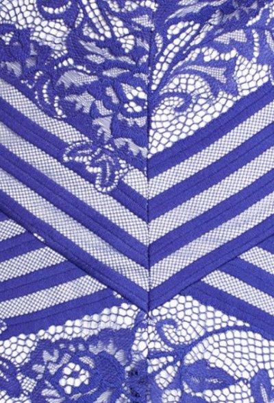 画像2: 【木南晴夏さんご着用】Tadashi Shoji    Stripe & Lace A-Line Dress ブルー系