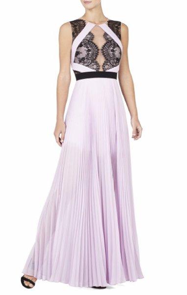 画像1: 再販売【ローラさんご着用】BCBGMAXAZRIA Cortney Sleeveless Gown ラベンダー (1)