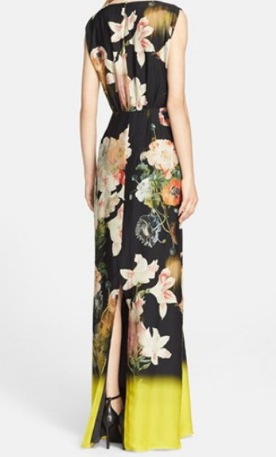 画像1: 【ドラマ使用】Ted Baker    Jasmyne Opulent Bloom Print Evening Gown