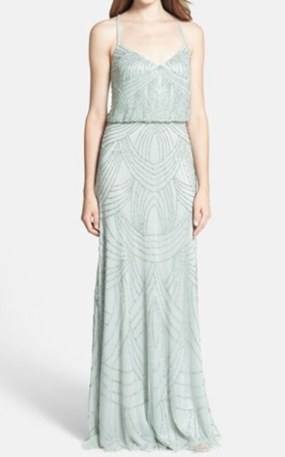 画像1: ドラマ【プリティリトルライヤーズ使用】Adrianna Papell   Beaded Blouson Dress mist