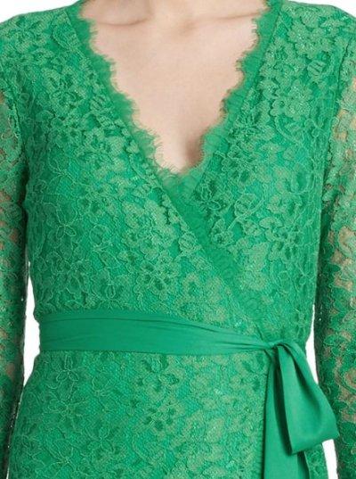 画像1: 【ドラマ使用】Diane von Furstenberg ダイアンフォンファステンバーグ  Julianna Lace Wrap Dress ブラック