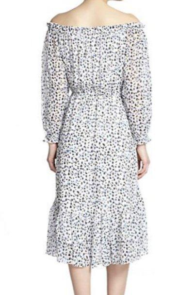 画像1: 【ヴァンサンカン掲載】Diane von Furstenberg  Camila Off-Shoulder Silk Dress