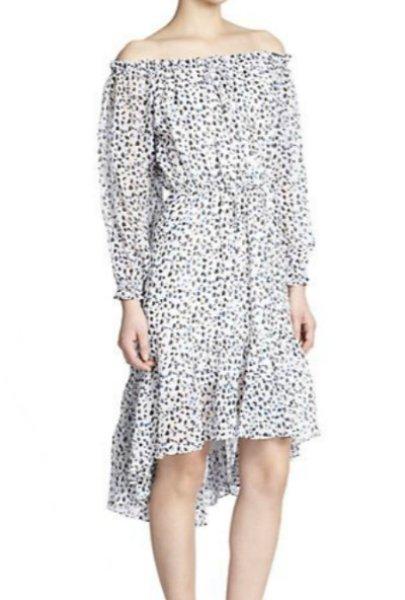 画像1: 【ヴァンサンカン掲載】Diane von Furstenberg  Camila Off-Shoulder Silk Dress (1)