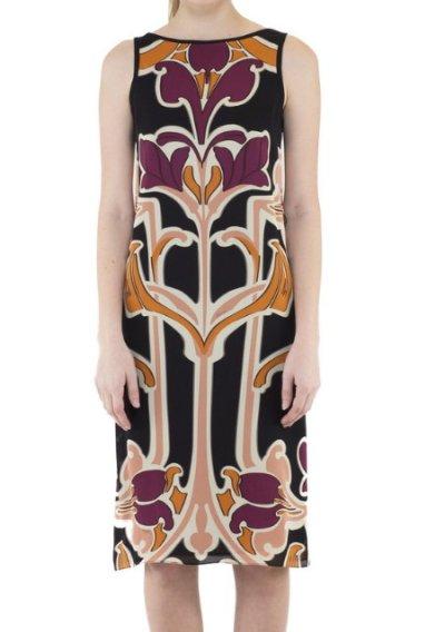 画像2: 【雑誌掲載】GUCCI グッチ Art Nouveau Flower Print Silk Dress
