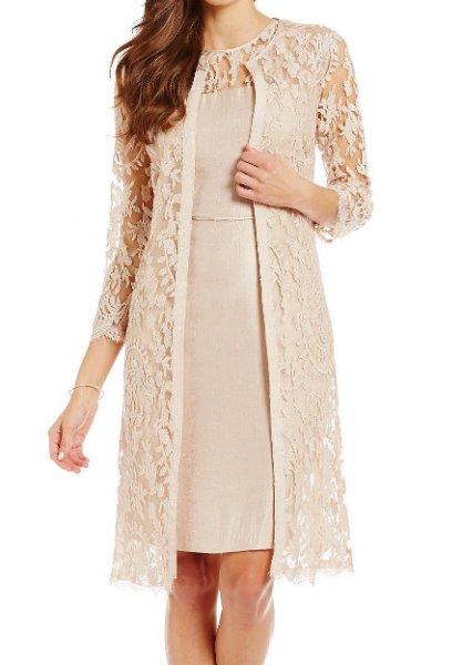 画像1: Adrianna Papell   レースジャケット付きドレス (1)