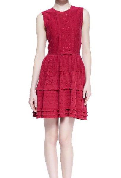 画像1: RED Valentino   Embroidered Knit Dress (1)
