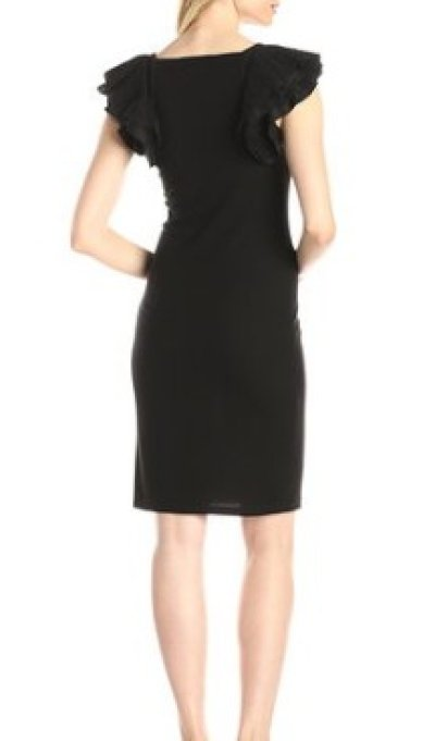 画像1: 【ドラマ使用】BCBGMAXAZRIA   Cristin Flutter-Sleeve  Dress