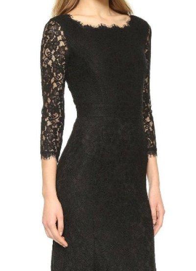 画像3: 【キャサリン妃ご愛用】Diane von Furstenberg  Zarita Lace Gown ブラック