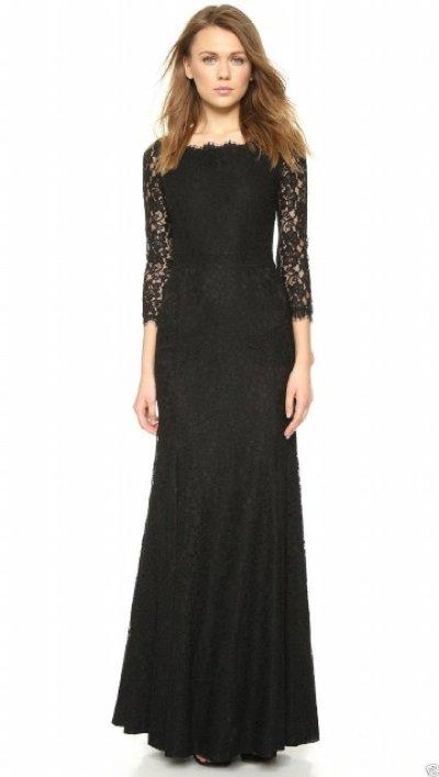 画像1: 【キャサリン妃ご愛用】Diane von Furstenberg  Zarita Lace Gown ブラック