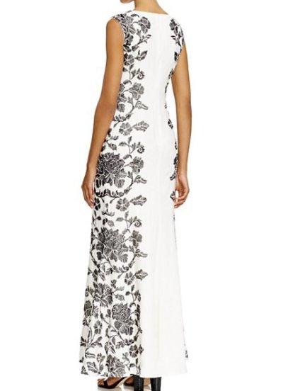 画像1: 【竹下景子さんご着用】Tadashi Shoji   タダシショージ   Floral-Side Crepe Gown