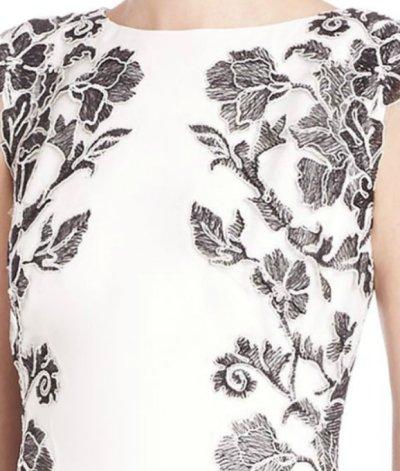 画像2: 【竹下景子さんご着用】Tadashi Shoji   タダシショージ   Floral-Side Crepe Gown