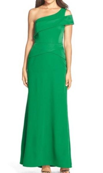 画像1: 【ドラマ使用】BCBGMaxAzria  Annely one shoulder gown (1)