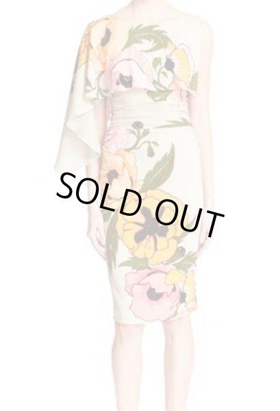 画像1: Tracy Reese トレイシーリース Asymmetrical Print Stretch Silk Dress (1)