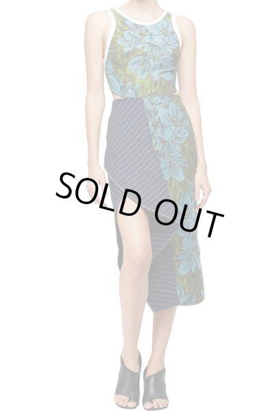 画像1: 【ヴァンサンカン掲載、ミストレス使用】3.1 Phillip Lim    Sleeveless Floral Dress w/ Striped Trim (1)