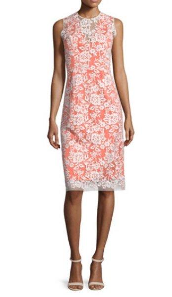画像1: 【ドラマ使用】ERIN erin fetherston エリンフェザーストン  Sleeveless Lace-Overlay Cocktail Dress (1)