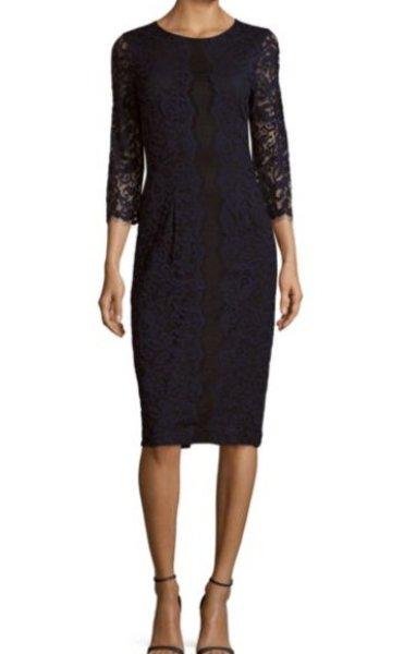 画像1: ERIN erin fetherston エリンフェザーストン Catherine Roundneck Lace Dress (1)