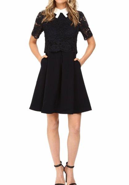 画像1: 【ドラマ使用】Ted Baker テッドベイカー  Dixxy Lace Bodice Double Layer Dress (1)
