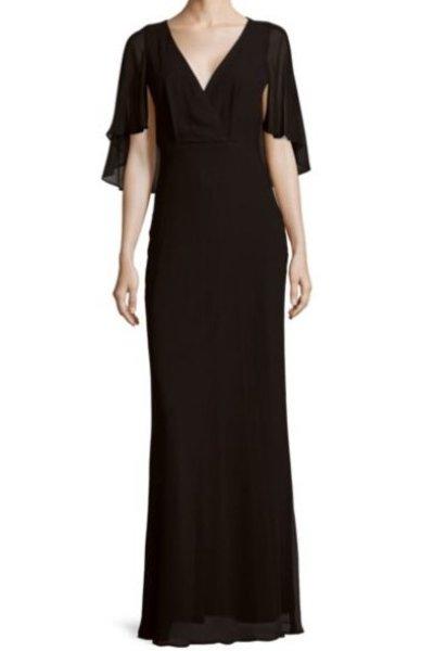画像1: ERIN erin fetherston エリンフェザーストン Maritza Gown ブラック (1)