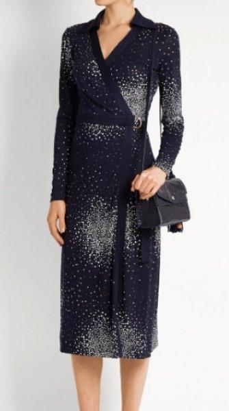 画像1: 【篠原涼子さんご着用】Diane von Furstenberg ダイアンフォンファステンバーグ D Ring Wrap Dress  (1)