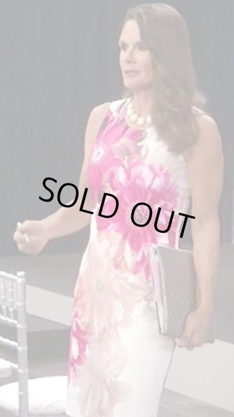 画像1: 【ドラマ使用】Calvin Klein カルバンクライン  ピンク花柄シースドレス (1)