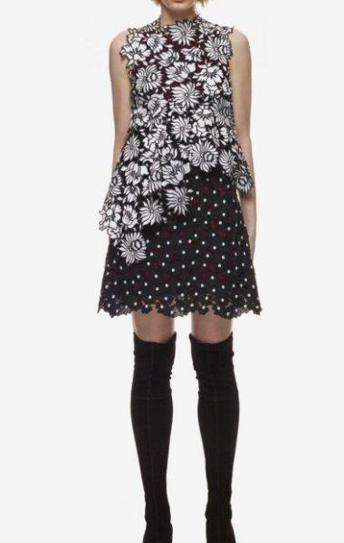 画像1: 再販売【上戸彩さんご着用】Self Portrait セルフポートレイト  millie layered ドレス (1)