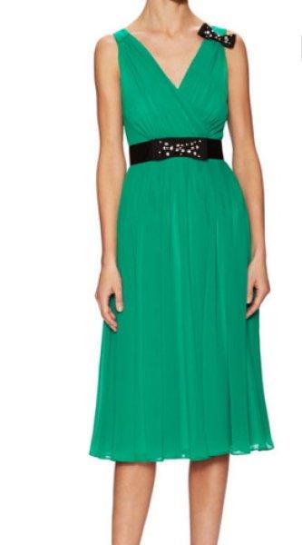 画像1: KATE SPADE New York ケイトスペード  リボン付きグリーンドレス (1)