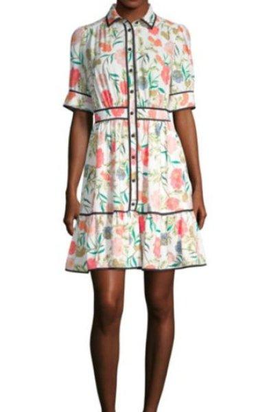 画像1: 【小島瑠璃子さん着用】Kate Spade ケイトスペード Blossom Shirt Dress (1)