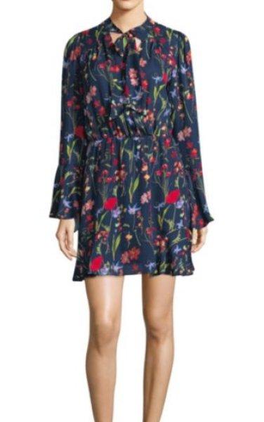画像1: 【ドラマ使用】Parker パーカー Valencia Silk Tunic Dress (1)