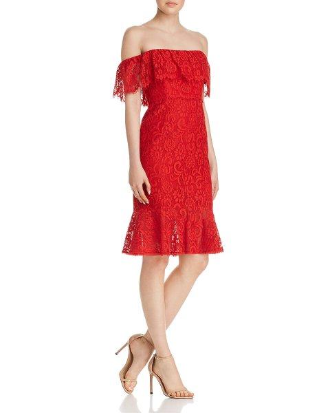画像1: 【Kathie Lee Gifford 着用】BCBGMAXAZRIA  オフショルダーレースドレス (1)