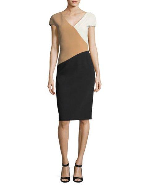 画像1: 【セレブ多数愛用】Diane von Furstenberg ダイアンフォンファステンバーグ Banded Colorblock Dress (1)