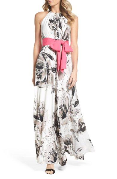 画像1: 【ドラマ使用】Eliza J   Chiffon Maxi Dress (1)