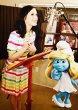 画像2: 【ケイティペリー愛用、美人百花掲載】Kate Spade キャンディストライプドレス (2)