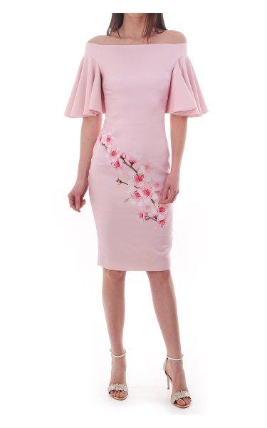 画像1: Ted Baker テッドベイカー CALINDA dress ピンク (1)