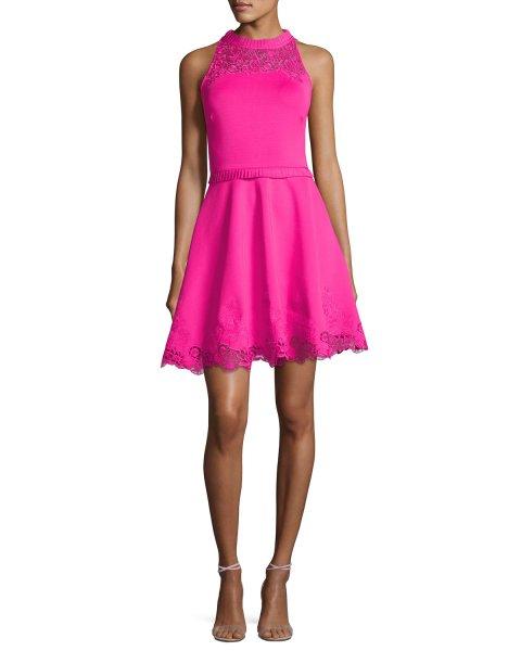 画像1: Ted Baker テッドベイカー Zaffron dress ピンク (1)