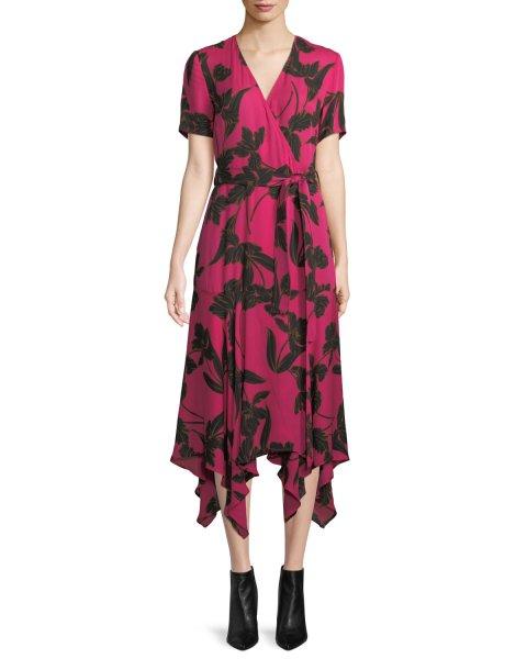 画像1: 【 Carrie Inaba 他、テレビ多数使用】A.L.C.  Cora V-Neck Wrap Dress (1)
