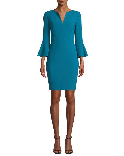 画像1: 【Carrie Inaba 着用】Elie Tahari エリータハリ Natanya Crepe Sheath Dress (1)