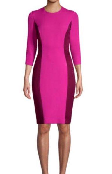 画像1: 【ドラマ使用】Milly ミリー Stretch Crepe Scuba Dress (1)