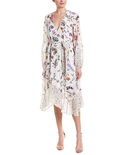 画像1: 【ドラマ使用】BCBGMAXAZRIA Mixed Wildflowers Asymmetrical Dress  (1)