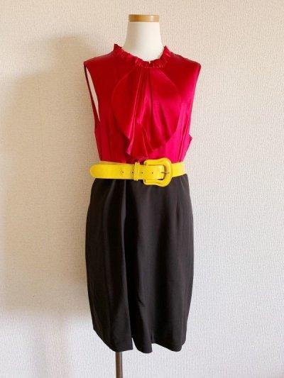 画像1: 【グリッター掲載・ジェニーガース愛用、ゴシップガール使用】Alice + Olivia  Jabot Belted Dress