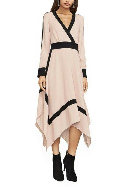 画像1: 【Carrie Inaba着用】BCBGMAXAZRIA   Bambi Colorblock Wrap Dress (1)