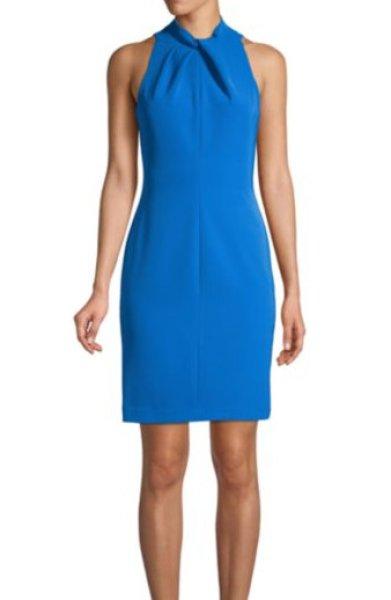 画像1: 【Hoda Kotb 愛用】Black Halo  Zana Sheath Dress ブルー系 (1)