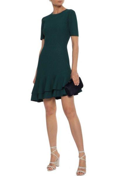 画像1: 【Ginger Zee 愛用】Diane von Furstenberg ダイアンフォンファステンバーグ Adelineリブニットドレス (1)