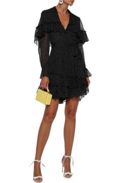 画像1: 【テレビ使用】Diane von Furstenberg ダイアンフォンファステンバーグ Martina ドット柄ドレス (1)