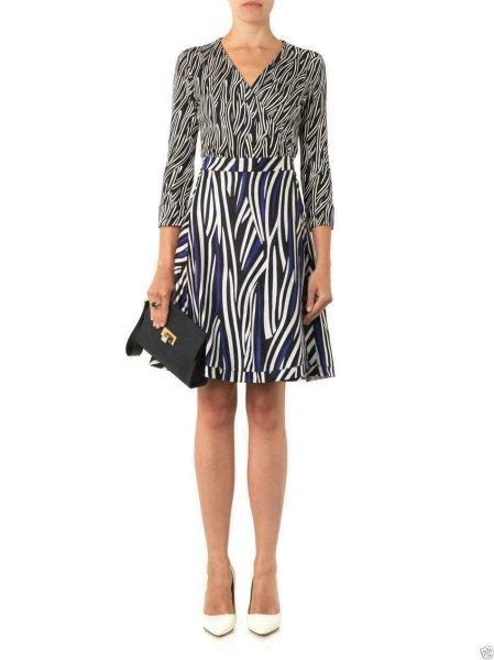 画像1: Diane von Furstenberg ダイアンフォンファステンバーグ  Amelia Silk Wrap Dress VINTAGE CORNFIELD (1)