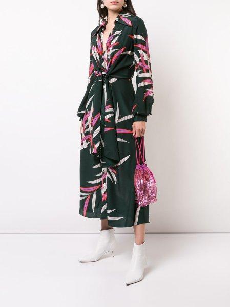 画像1: 【エバロンゴリア着用】Diane von Furstenberg ダイアンフォンファステンバーグ plunge wrap dress (1)