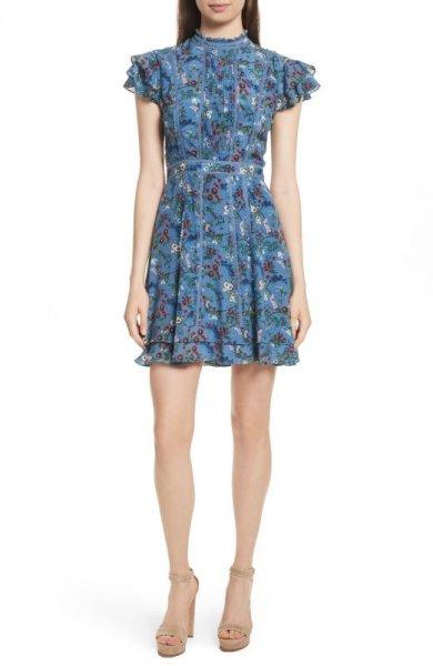画像1: 【広瀬アリスさん着用】Alice + Olivia アリスアンドオリビア  Marta High Neck Dress (1)