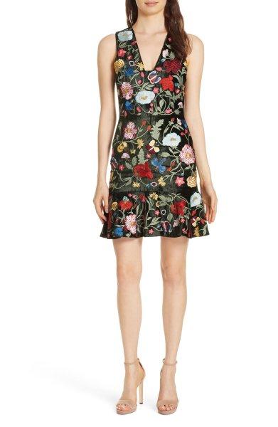 画像1: 【ドラマ使用】Alice + Olivia アリスアンドオリビア  Peyton A-Line Dress  (1)