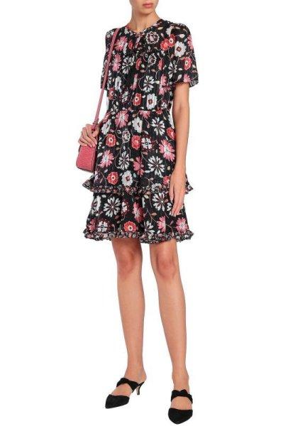 画像1: 【新川優愛さん着用、nonno掲載】KATE SPADE New York   ケイトスペード casa dress (1)
