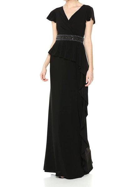 画像1: Adrianna Papell アドリアナパペル  Draped Jersey Dress (1)
